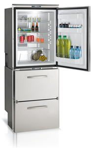 10.5 cu. ft. Refrigerator with Top Drawer Freezer/Bottom Drawer Refrigerator, Stainless Steel Front, Surface Flange, 12/24v - 115/230VAC