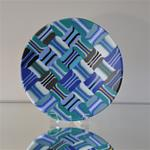 Open Weave Bowl - Teal Gray