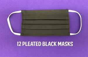 "#006 (12) ""PLEATED"" WHITE face masks"
