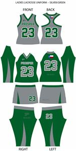 Ladies' Lacrosse Uniform--SILVER