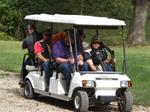 2 person 100 target Sporting Clay pack with 4 passenger golf cart