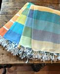 Bath & Beach Fouta Turkish Towels with Large Stripes