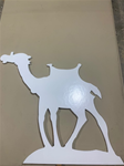 Camel Standing - white