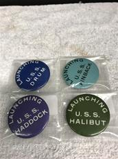 Pinbacks, (4) Navy Submarine