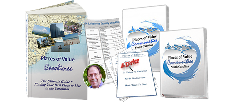 The Ultimate Guide Package including 450+ pages of the Best Places To Live In The Carolinas, Community Directories and Bonuses!