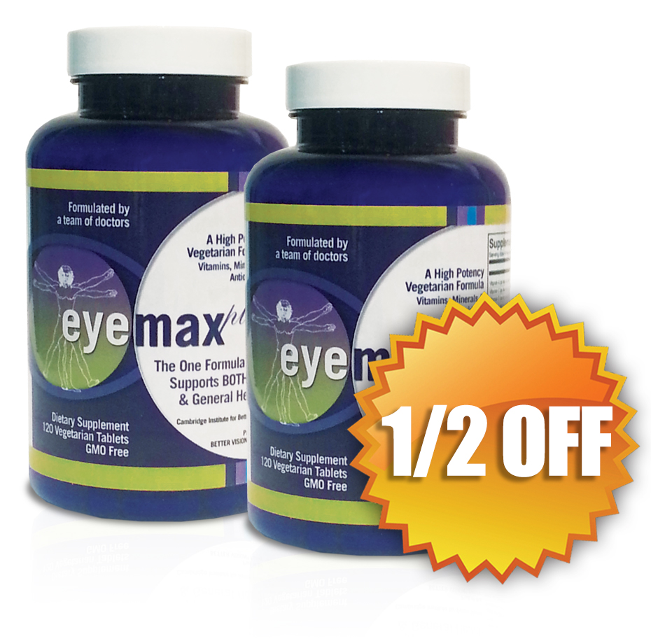 EYEMAX-plus AutoDelivery: GET TWO MONTHS FOR THE PRICE OF ONE! Reg. Price: $39.95 per month, your price: $39.95 every TWO months.