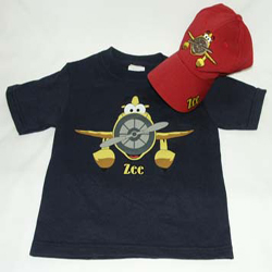 Zee Character on Hat and T-Shirt