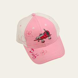 Puff Character on Pink/White Hat