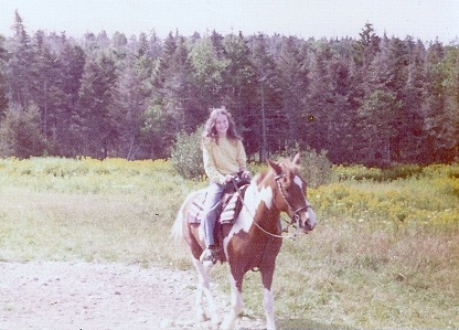 Kathy riding at 12