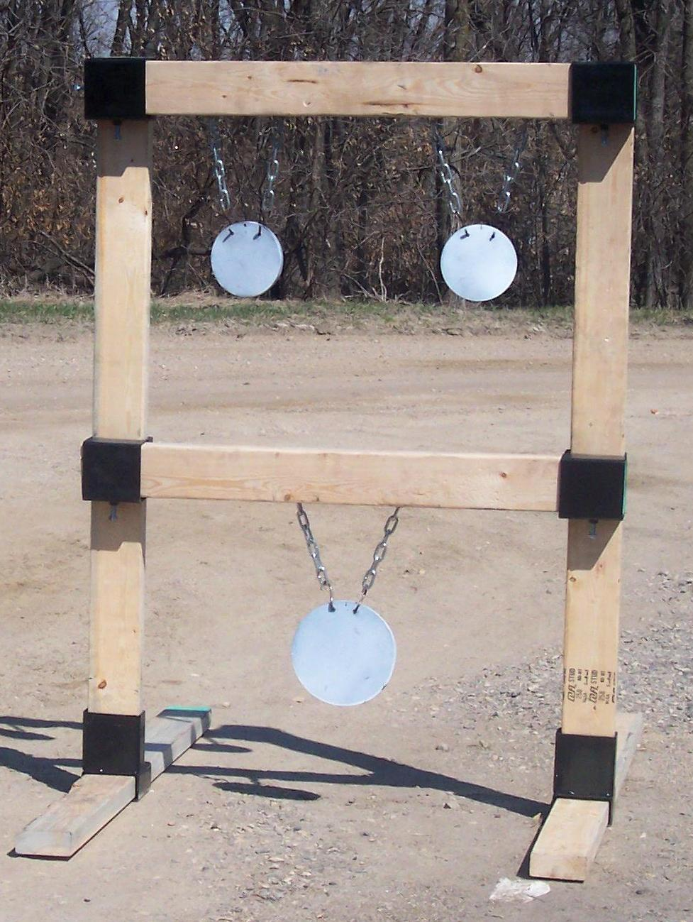 2x4 Hanging Target Stand Custom Steel Targets