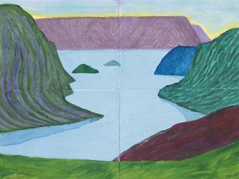 David Hockney Fjord Kamoyvaer