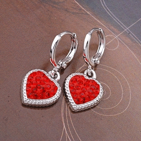 Earrings Jewelry Swarovski Crystal Dangle Heart