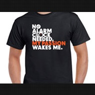 NO ALARM NEEDED T-SHIRT