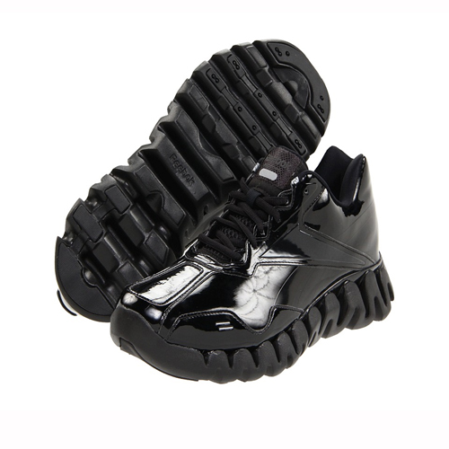 Wide Fit Black Leather Court Shoes