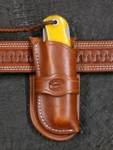 Knife Sheath Cowboy For Jumbo Trapper Bullard Leather Mfg