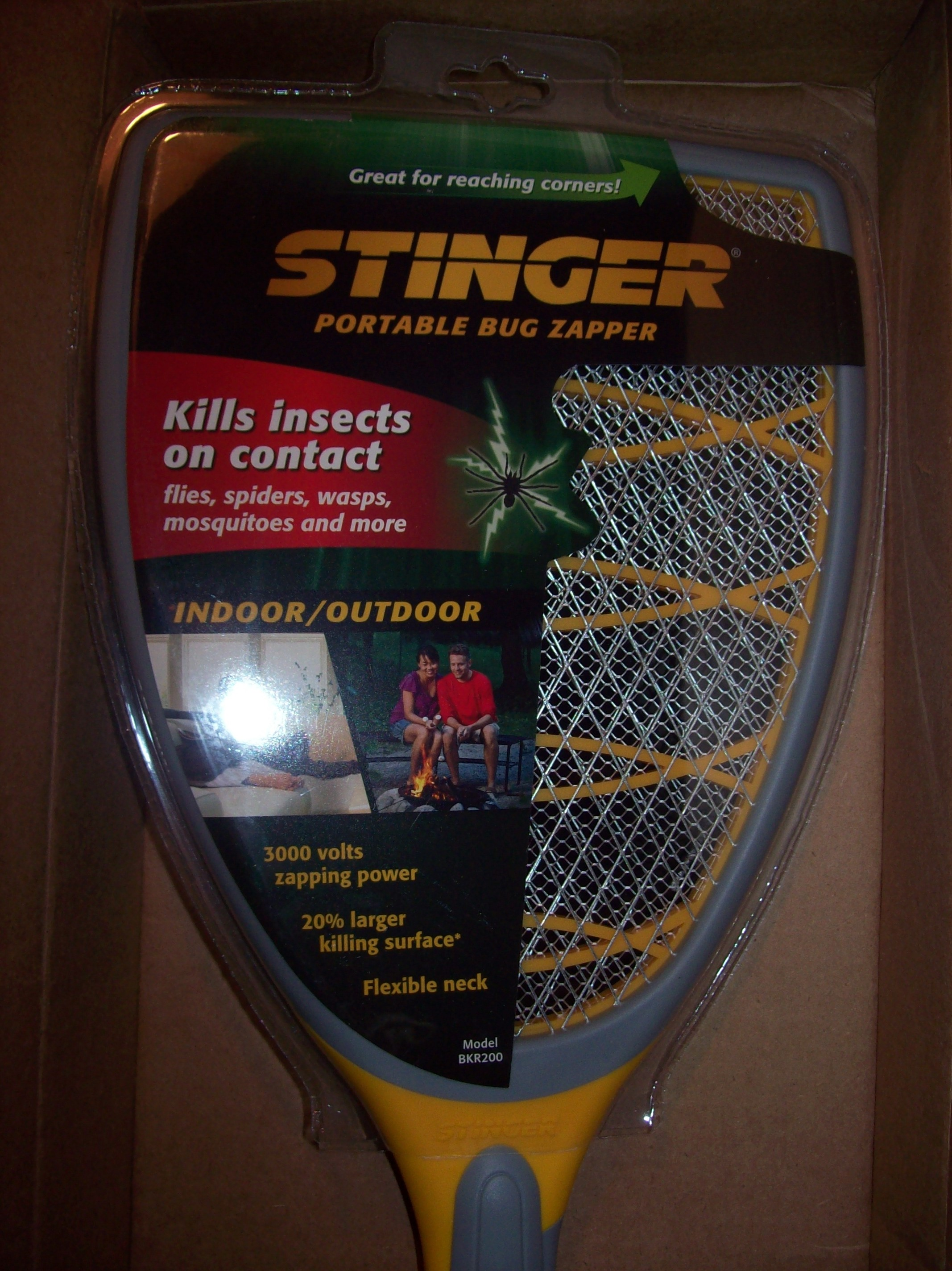 3000 Volt Stinger Handheld Bug Zapper Natural Air Man