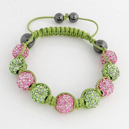 Aka Green Shamballa Bracelet Jlm Jewelry Amp Accessories