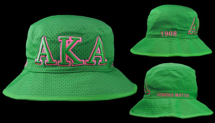 cc8fa204b842b AKA Green Bucket Hat - JLM Jewelry   Accessories