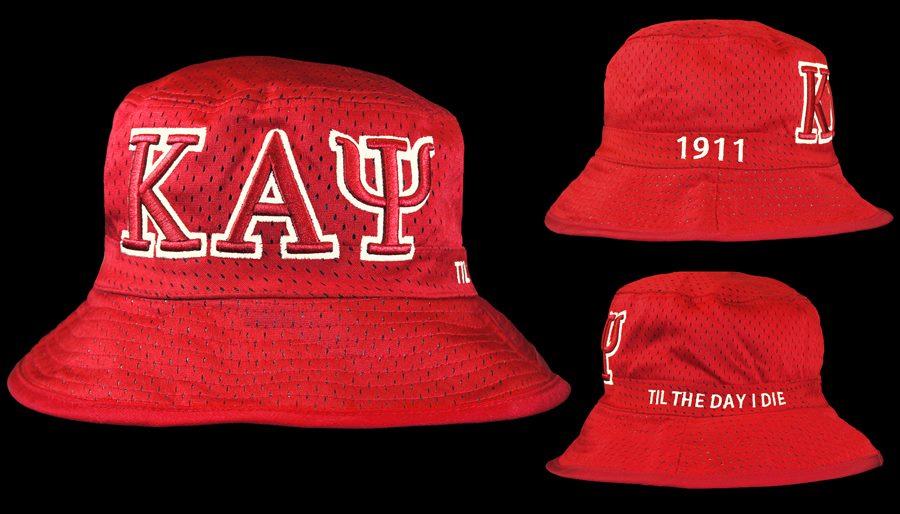 d1defa19dd116 Kappa Alpha Psi (Red   White) Mesh Bucket Hat - JLM Jewelry ...