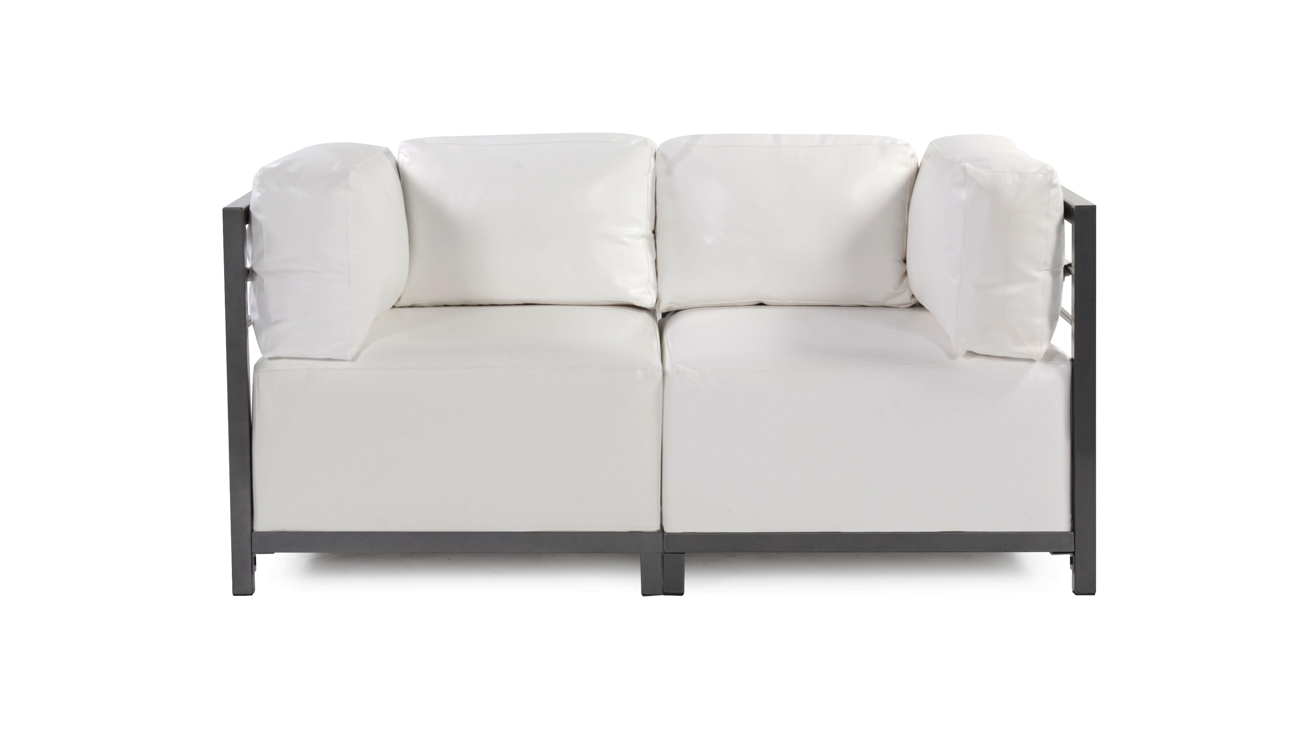 Lounge Sofa 2 Piece Atlantis White Vinyl Arizona Party
