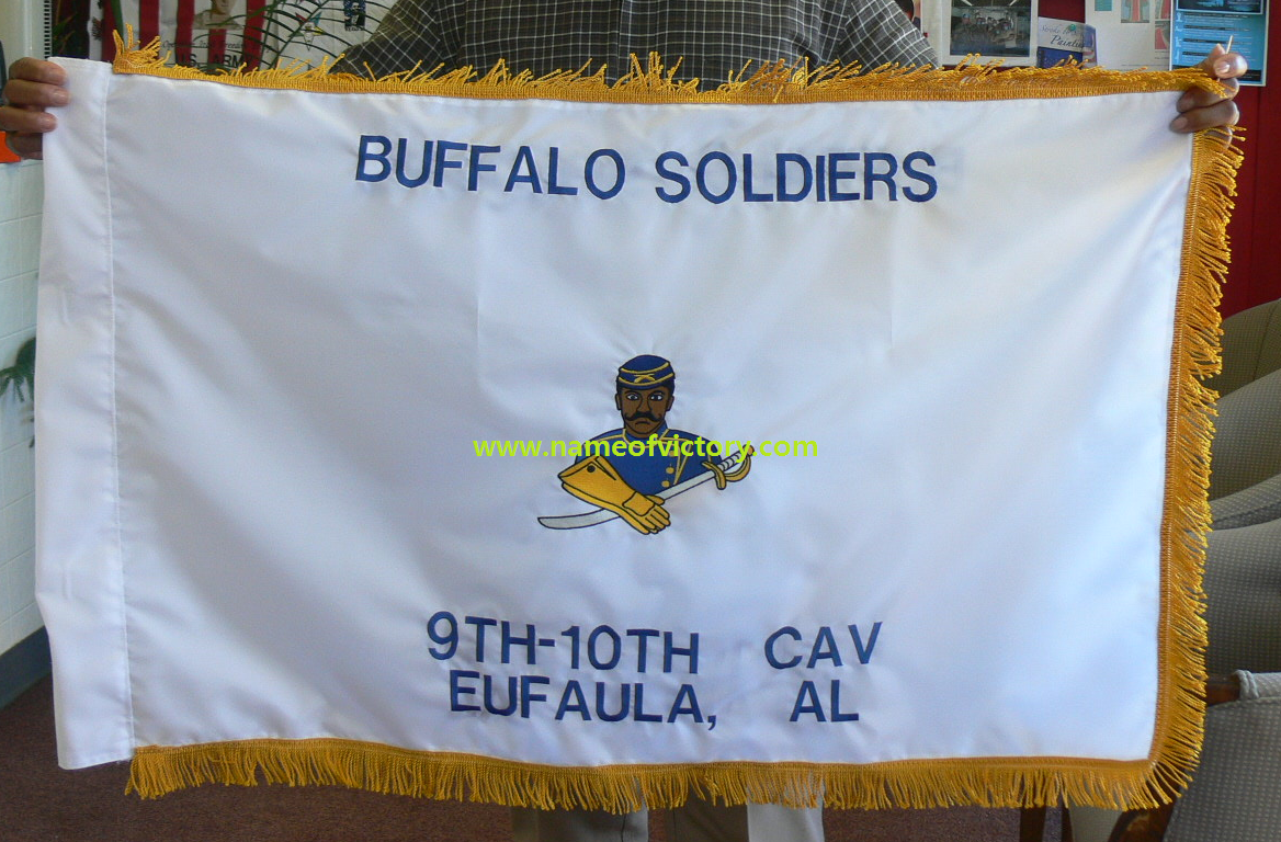 Buffalo Soldiers Flag Victory Sewing