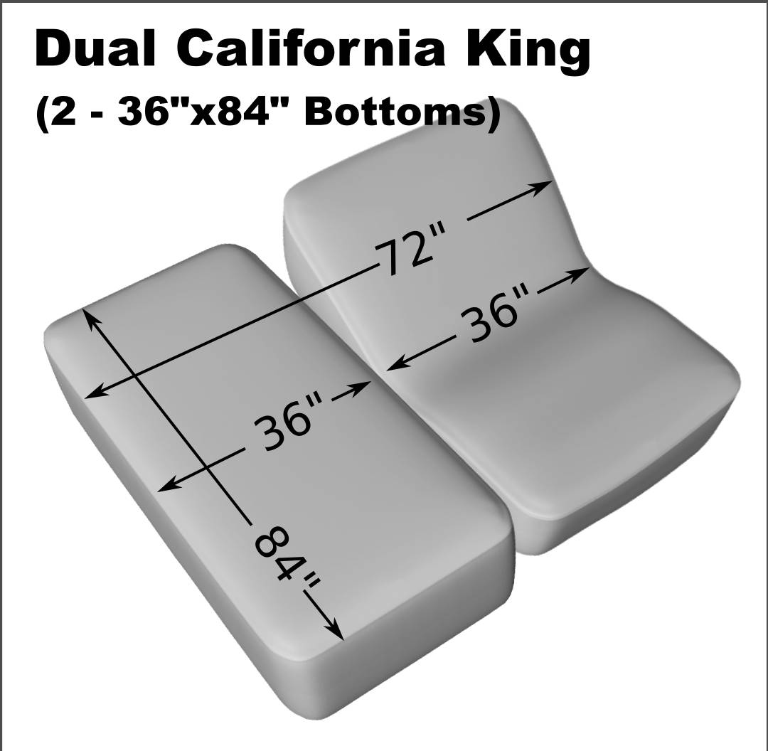 Dual California King 2 36 X 84 Fitted Terry Mattress