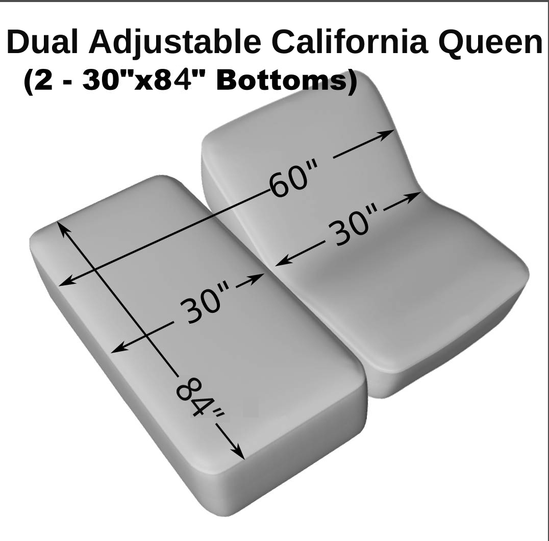 Dual Adjustable California Queen 2 30 X 84 Fitted Terry