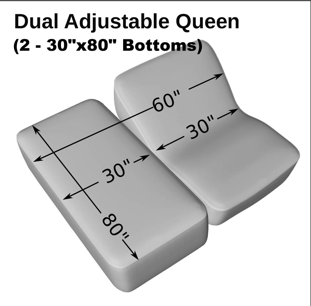 Dual Adjustable Queen 2 30 X 80 Cotton Quilted Mattress