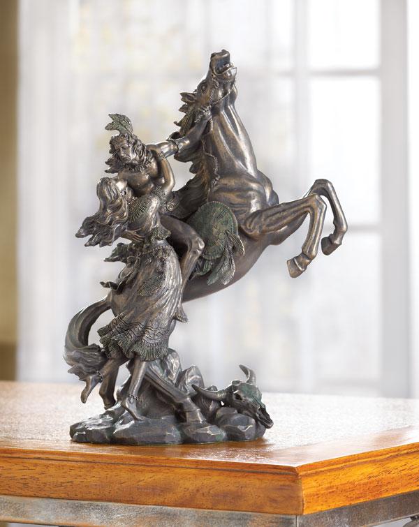 30087 Native American Lovers Rescue Liberty Bronze