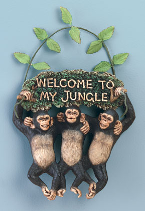 34512 Monkeys Welcome To My Jungle Sign Sharion S
