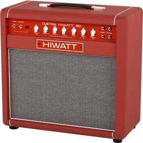 hiwatt custom 50 1x12 tube guitar combo amp white or red agoura music. Black Bedroom Furniture Sets. Home Design Ideas