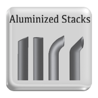Aluminized Steel Exhaust Stack Pipes, Truck stacks in Aluminum