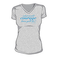 What Would Courage Have You Do? T-Shirt (03-Grey/Blue)