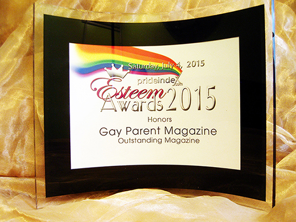 Gay Parent Magazine PrideIndex.com Esteem Award 2015