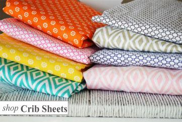 Modern Crib Sheets; crib sheeting; pattern
