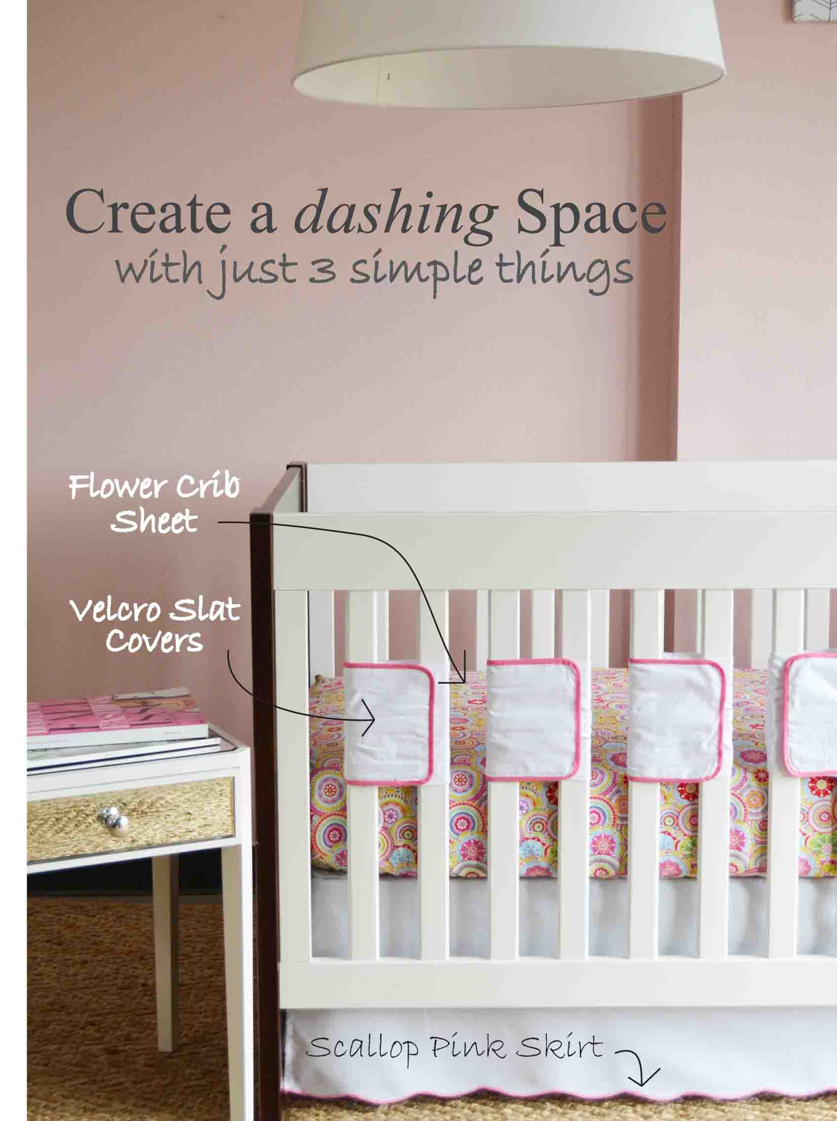 modern crib bedding with breathable bumper
