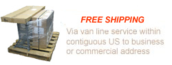 Free Commerical van line service within contiguous United States