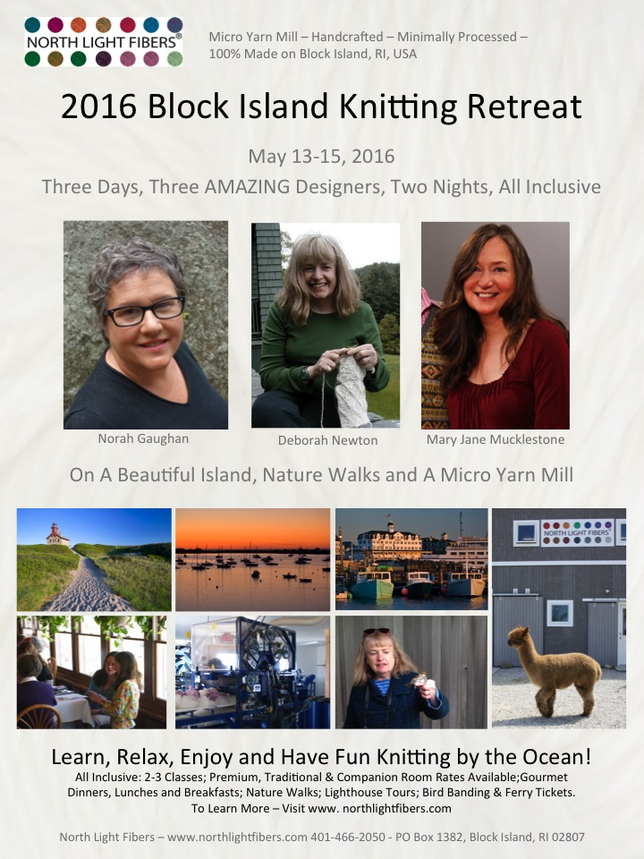 Block Island Knitting Retreat May 13-15, 2016