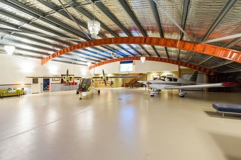 Airport hangar floor coating