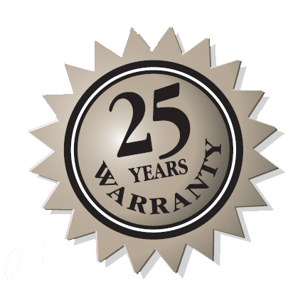 25 years warranty sticker
