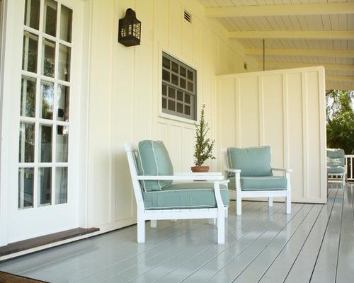 painted wood deck