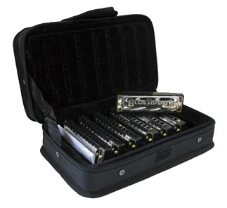 Hohner Blues Band Set of 7 Harmonicas Set With Case