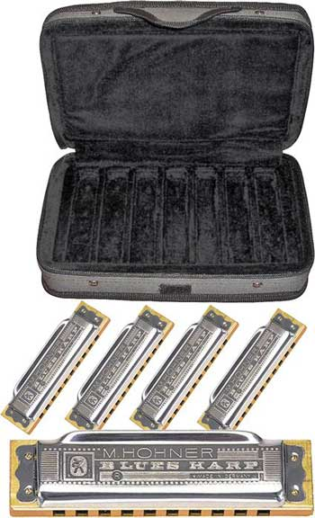 Hohner 5-Pack Case of Bluesharps Harmonicas H532-COB