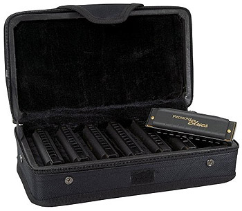 Hohner Piedmont Blues Harmonica Set of 7 with Case