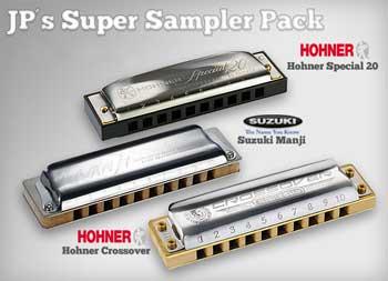 JPs Super 3 Harmonica Sampler