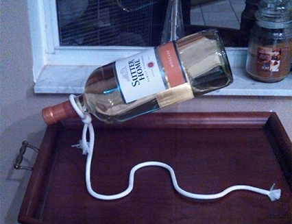 Magic Rope Wine Bottle Holder