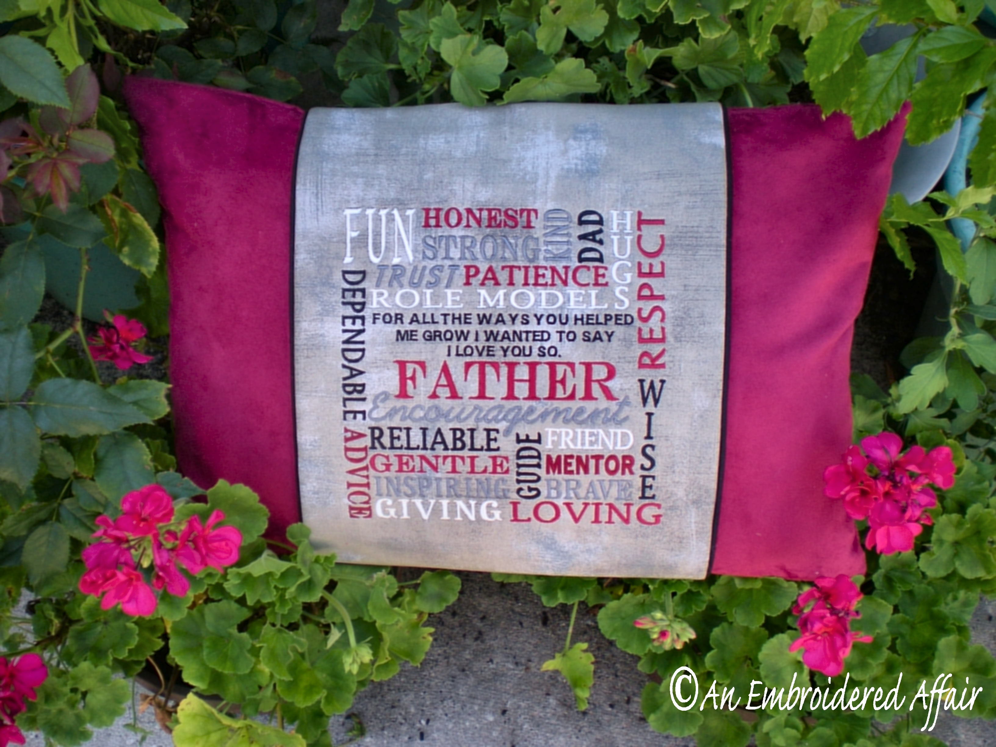 Fathers Day Pillow