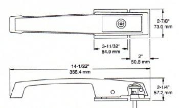 vulcan oven wiring diagram kason 1236c locking handle w lever brushed chrome 1236c 4