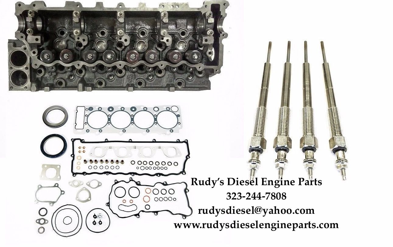 Overhaul Gasket + Rebuilt OEM Cylinder Head with valves + Glow Plugs
