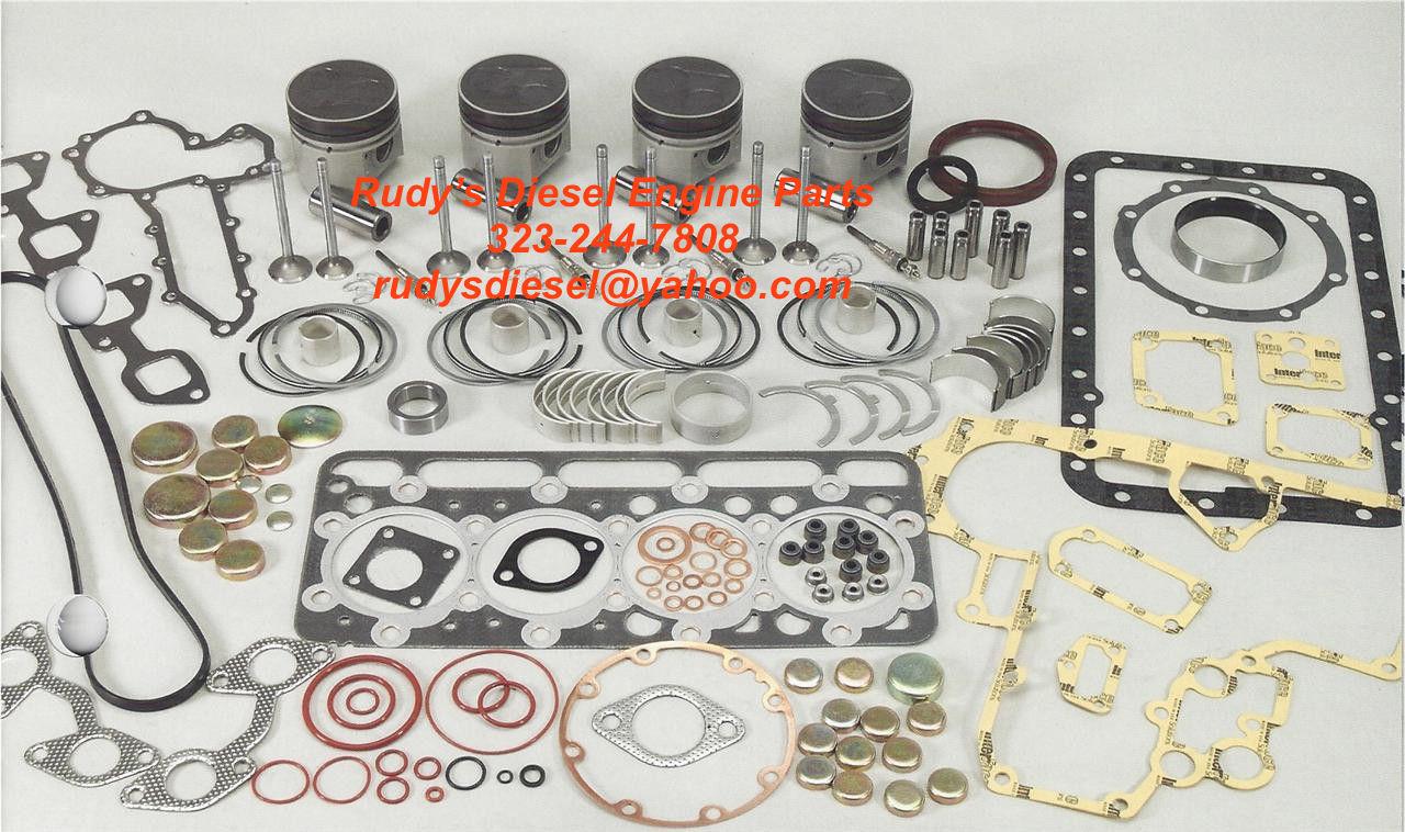 Kubota V2203 V2203T premium rebuild engine kit - Rudy's